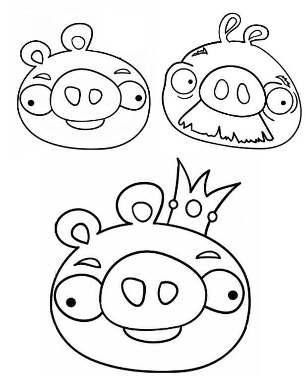Angry Birds Pigs Coloring Pages to Print
