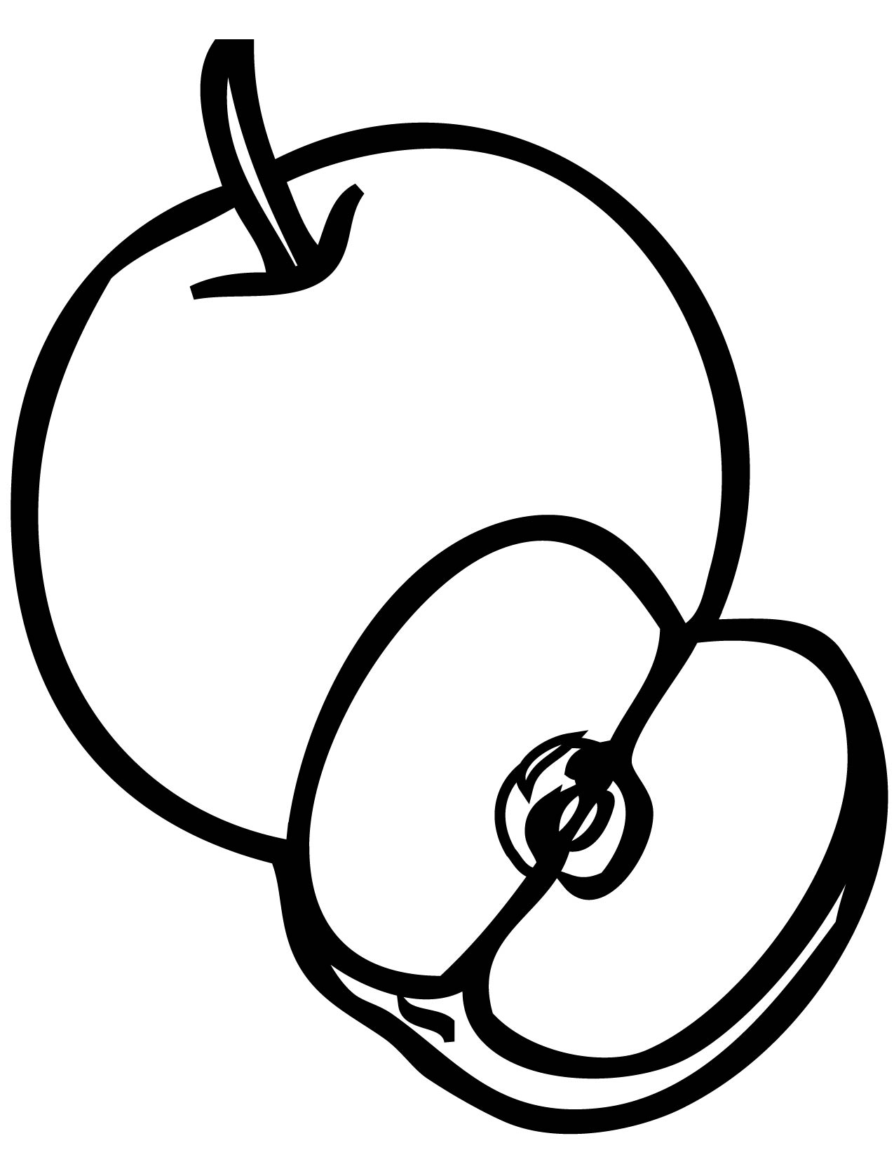 apple coloring pages for preschoolers - Apple Coloring