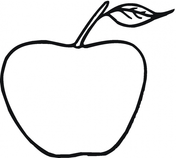 Apple Coloring Pages Preschool