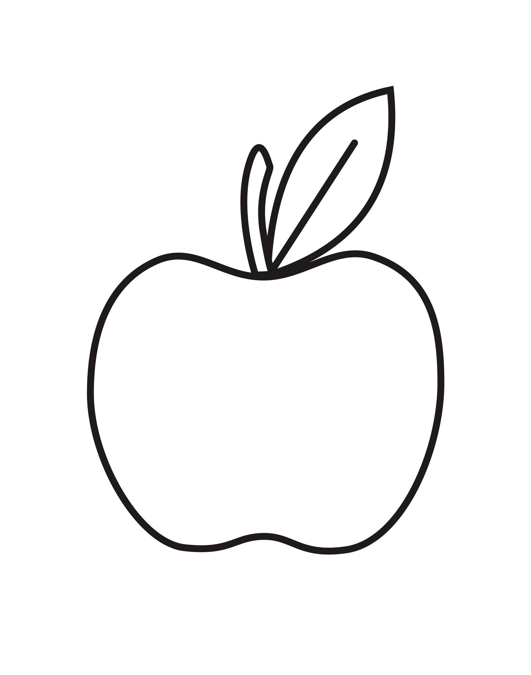 Free Coloring Pages Of An Apple : Apple coloring pages for preschoolers coloringpages