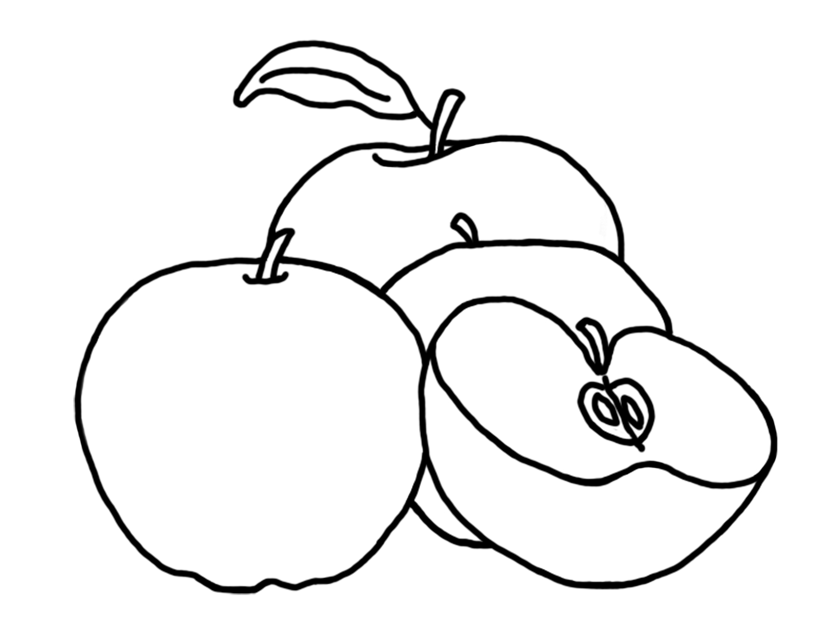 Apple Coloring Sheets Free Printable