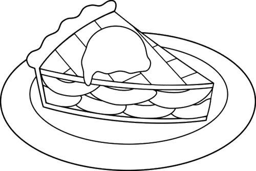 simple apple coloring pages apple pie coloring page