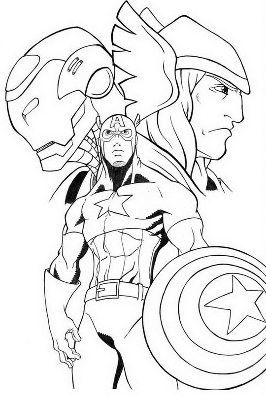 thor in avengers thor coloring pages - Avengers Coloring Pages Printable