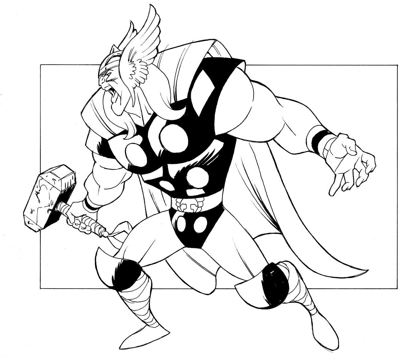 Marvel Thor Coloring Pages
