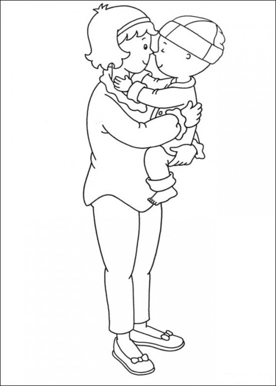 Baby Caillou Coloring Page