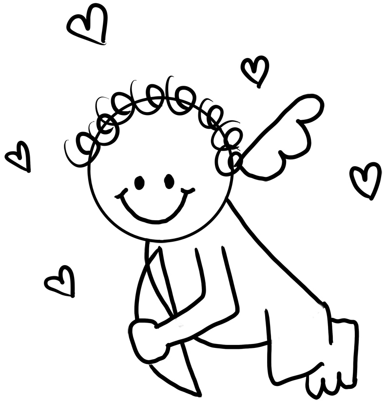 Baby Cupid Coloring Page