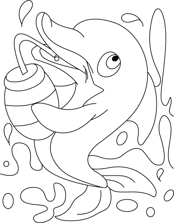 Cute Baby Dolphin Coloring Pages