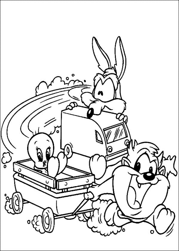 Baby Looney Tunes Coloring Pages Free Printable