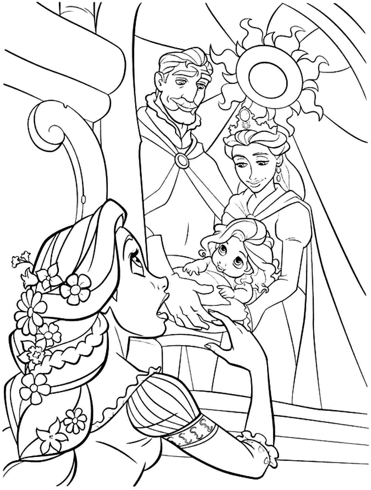 Tangled coloring pages 360coloringpages for Disney tangled coloring pages