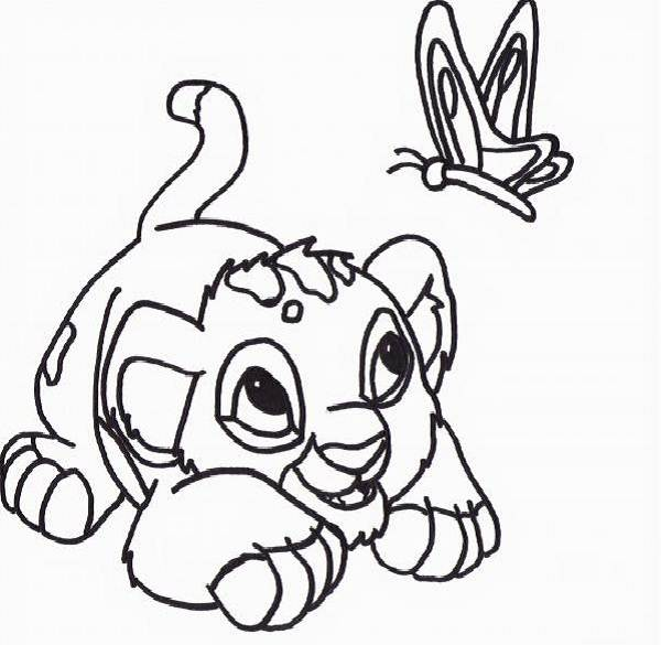 Baby Simba Coloring Pages for Kids