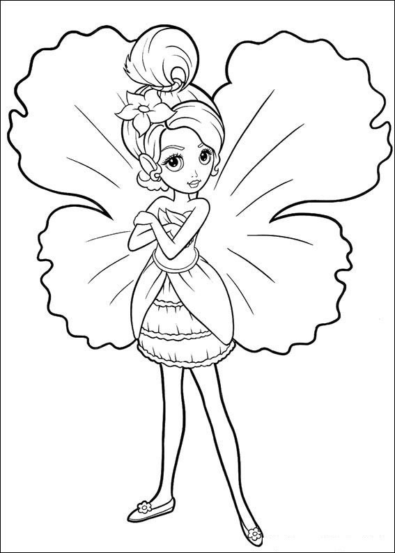 Barbie Fairy Coloring Page