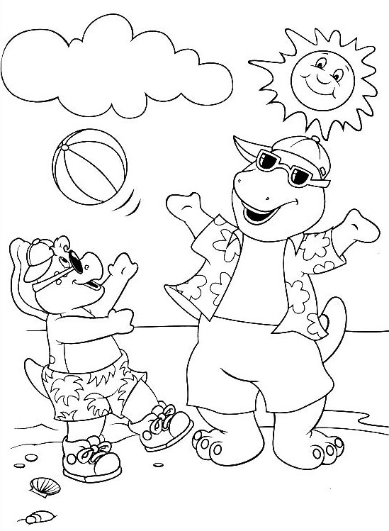 Barney Coloring Images
