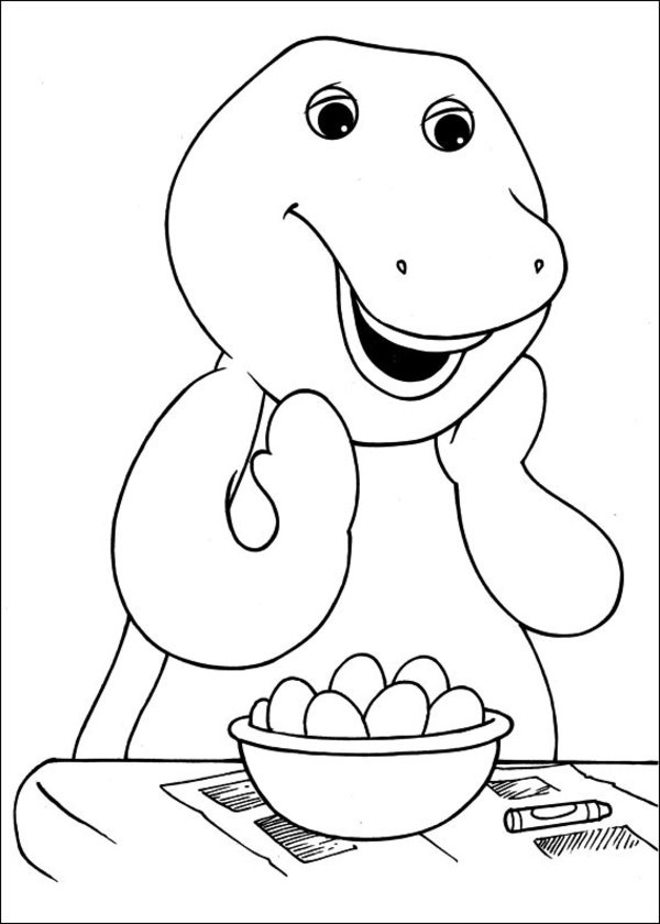 Barney Coloring Pictures
