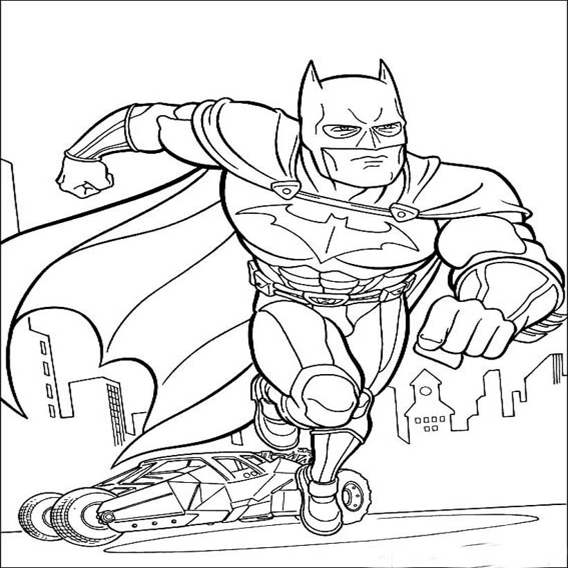 Free Batman Coloring Pages for Boys