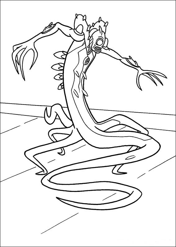 Ben 10 Alien Force Coloring Page