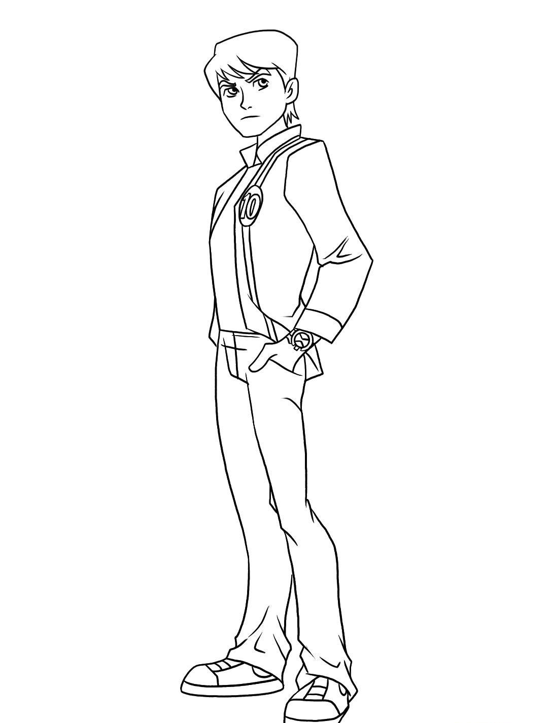 Ben 10 Coloring Pages Free Print