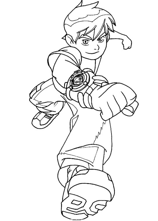 Free Ben 10 Coloring Pictures
