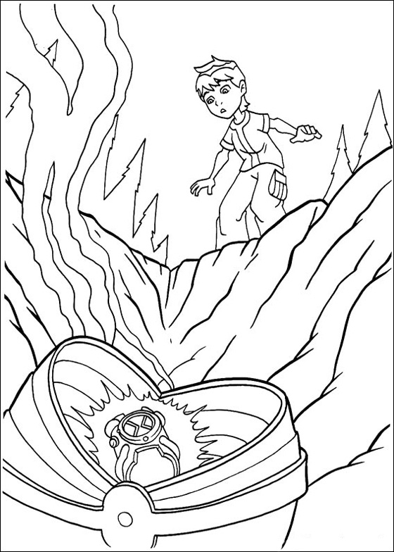 Printable Ben 10 Coloring Sheets