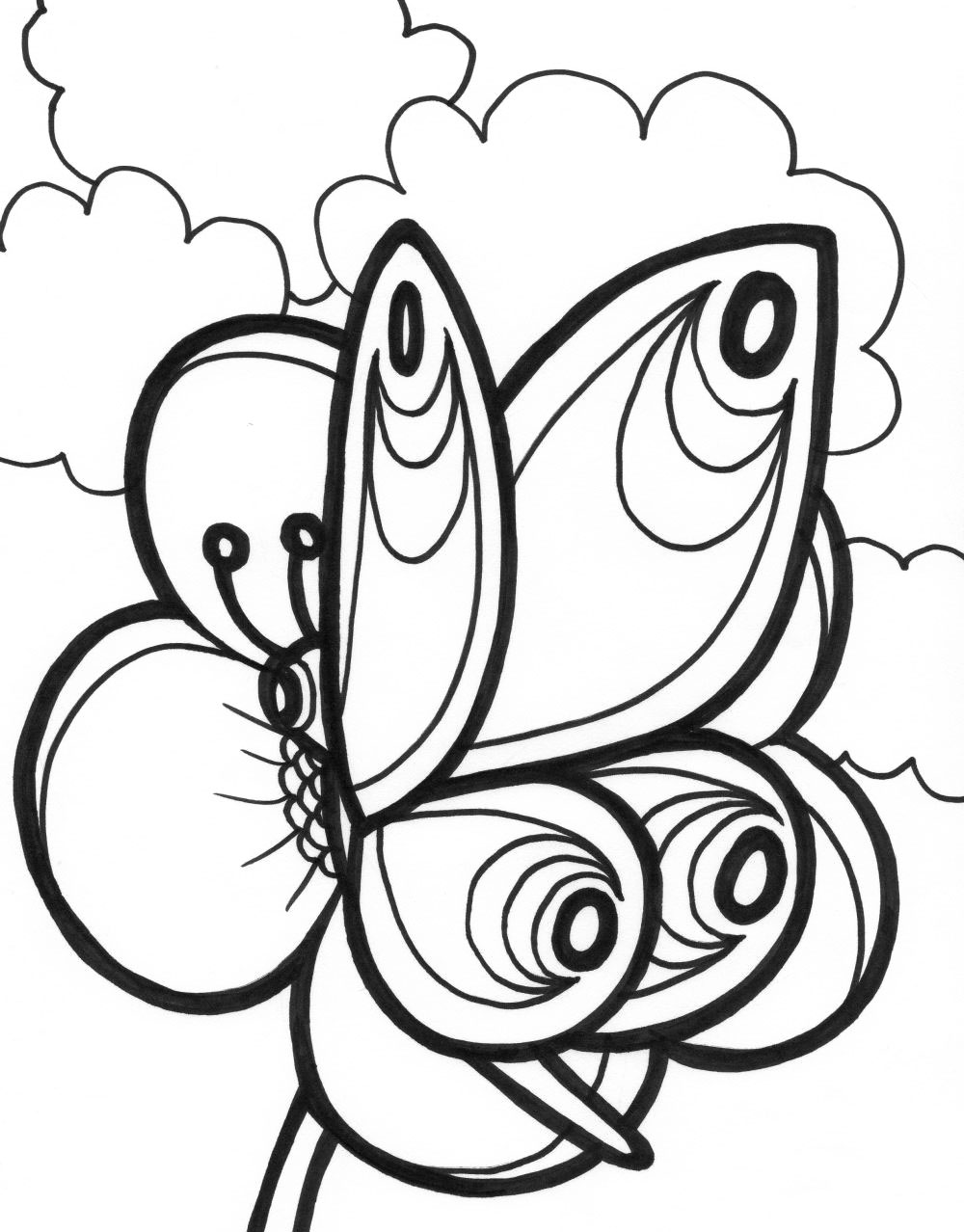 Butterfly Coloring Pages 360ColoringPages