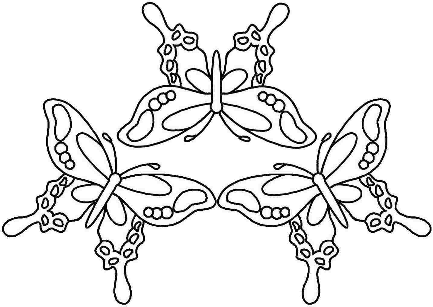butterfly coloring pages for kids printable monarch butterfly coloring pages for adults butterfly coloring pages free - Printable Butterfly Coloring Pages 2