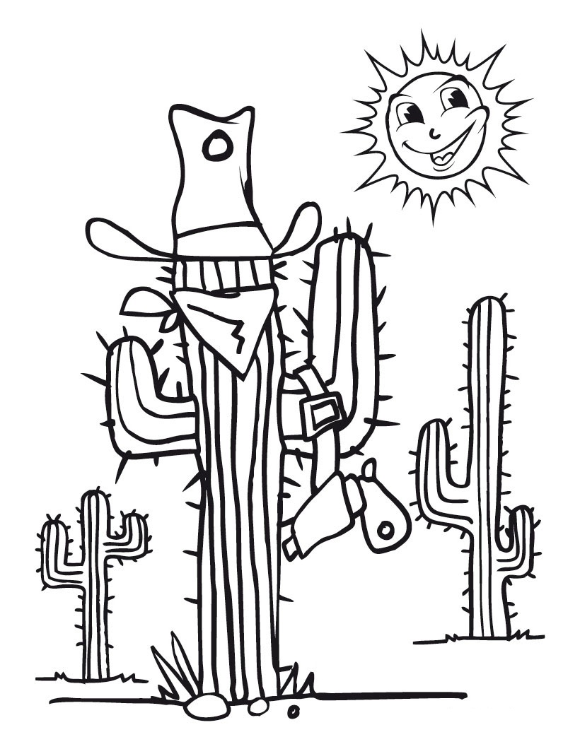 Cactus Coloring Pictures