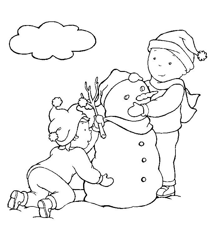 Caillou Coloring Pages Christmas