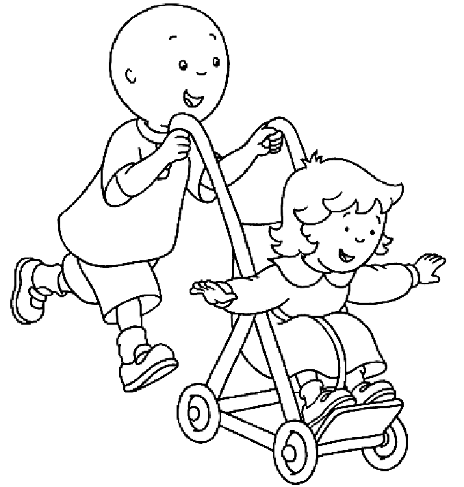 Free Caillou Coloring Pages
