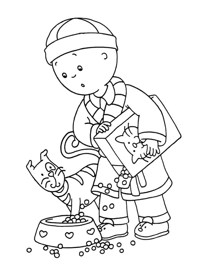Caillou Coloring Pictures Printable