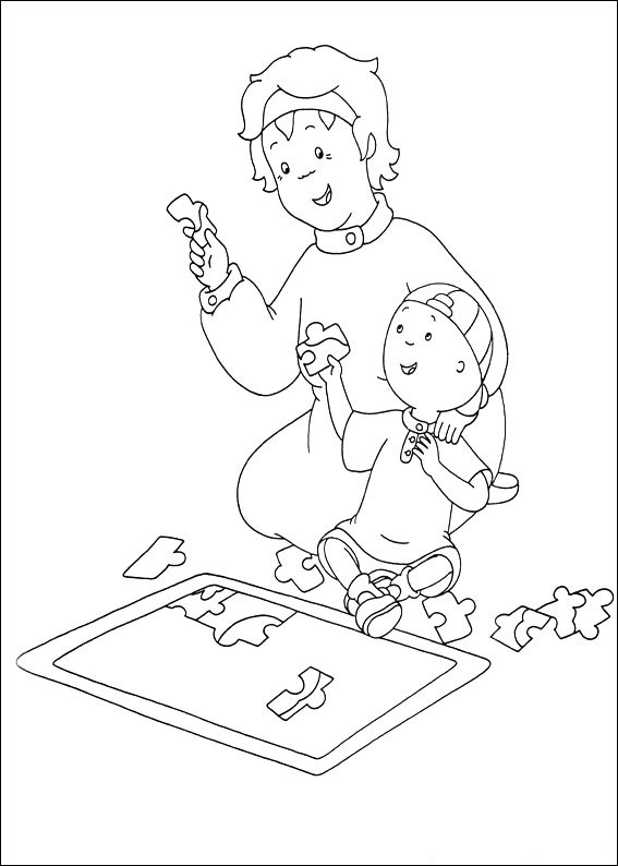 Free Caillou Coloring Sheets