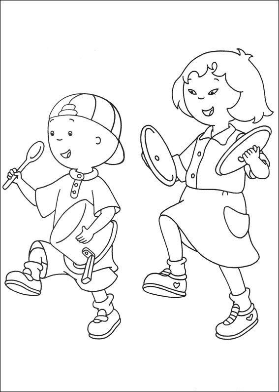 Printable Caillou Coloring Sheets
