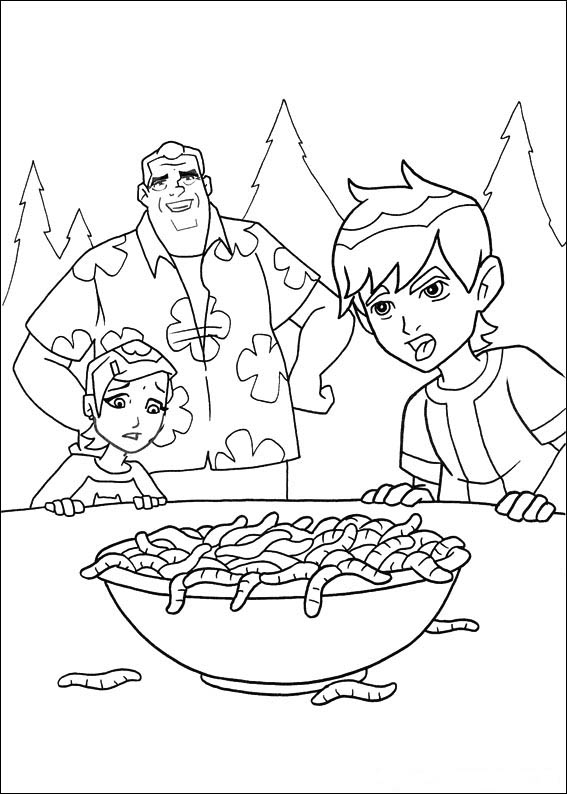 Cartoon Network Ben 10 Coloring Page