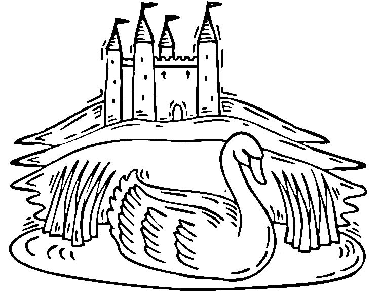 Castle Coloring Page for Adults