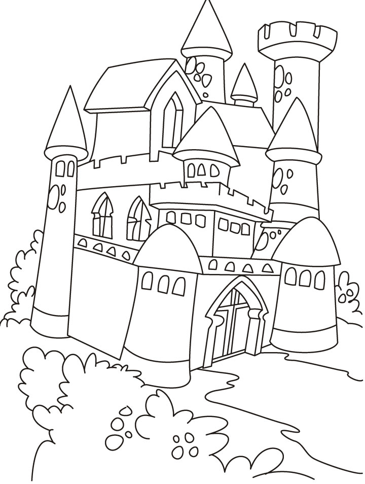 Castle Picture to Color