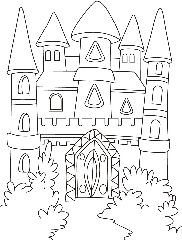 Castle Coloring Sheets Free Printable