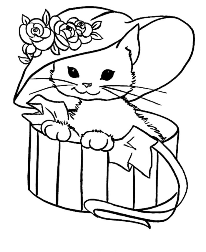 Cat Coloring Pages To Print Page Free Printable