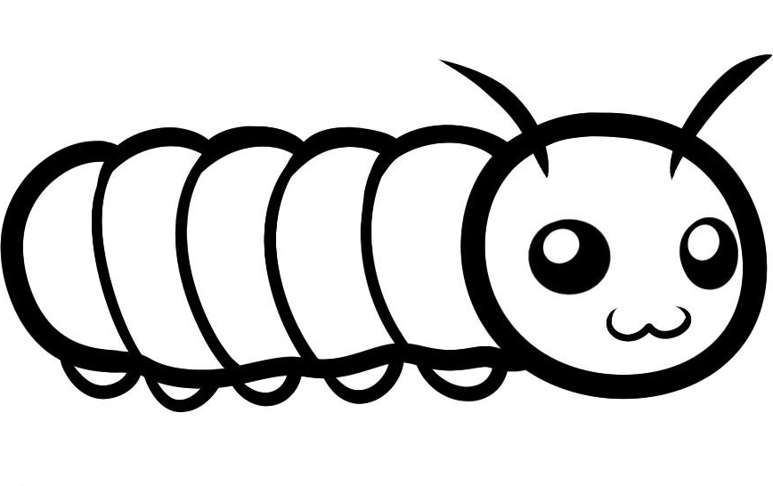 Caterpillar Coloring Pages Preschool