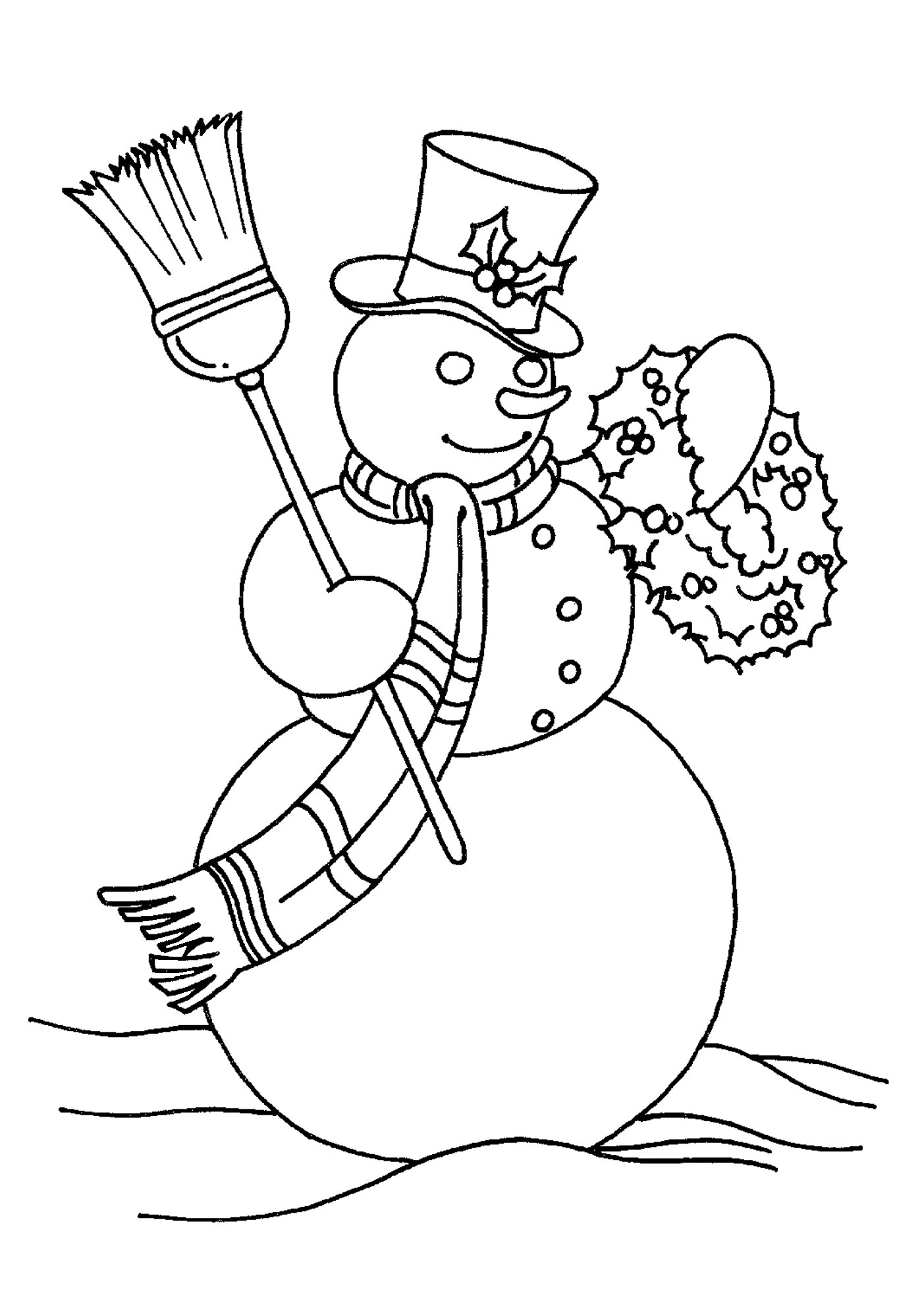 Snowman coloring pages 360coloringpages for Christmas snowman coloring pages