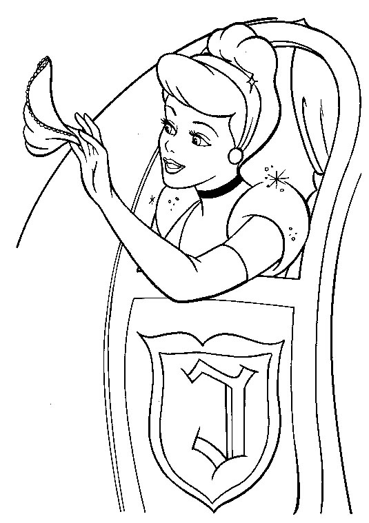 Cinderella Coloring Page Pages Free