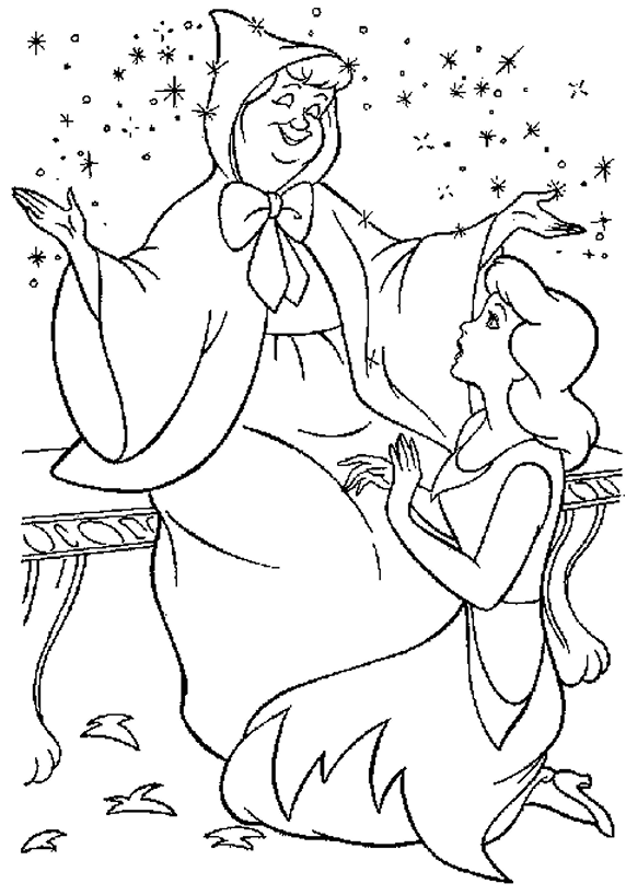 fairy godmother coloring pages | Fairy Coloring Pages | 360ColoringPages