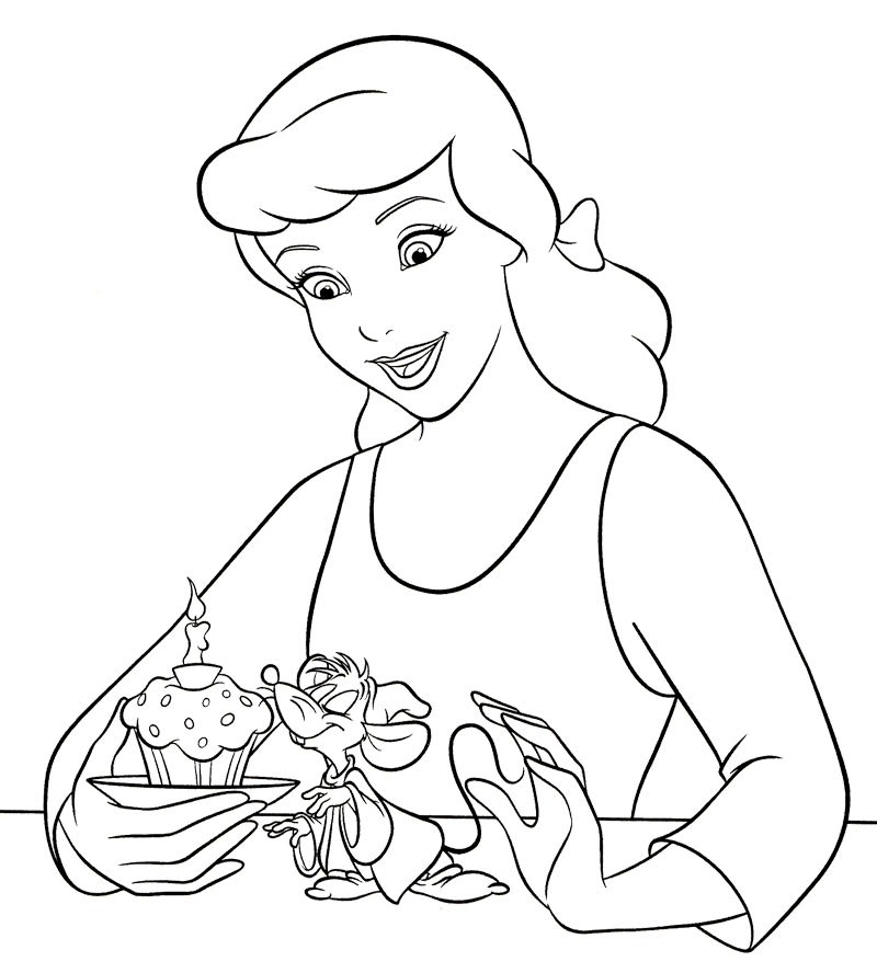 cinderella mice coloring pages - cinderella coloring pages 360coloringpages