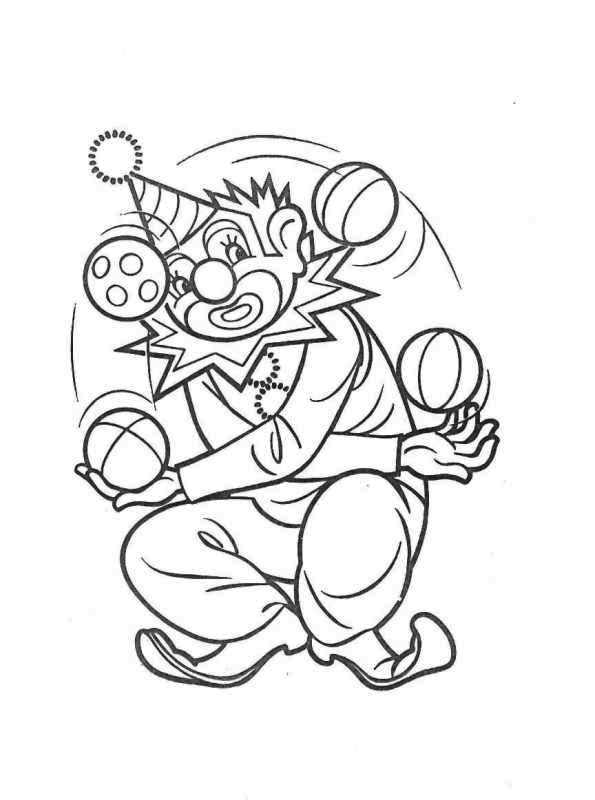 Clown Circus Coloring Pages