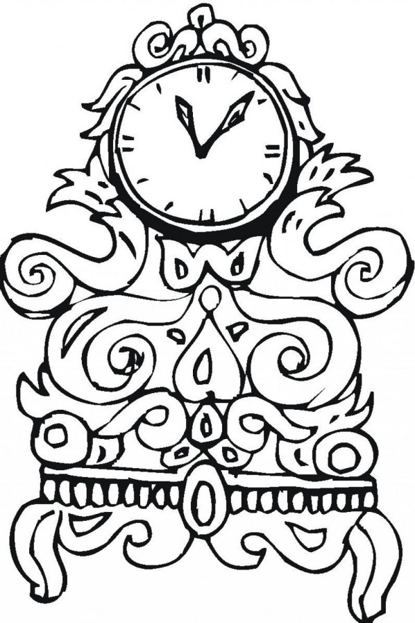 Free Printable Clock Coloring Pages