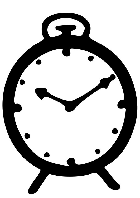 Preschool Clock Coloring Pages