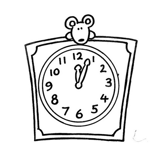 Clock Coloring Sheets Free