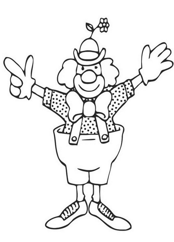 Clown Coloring Pictures Printable