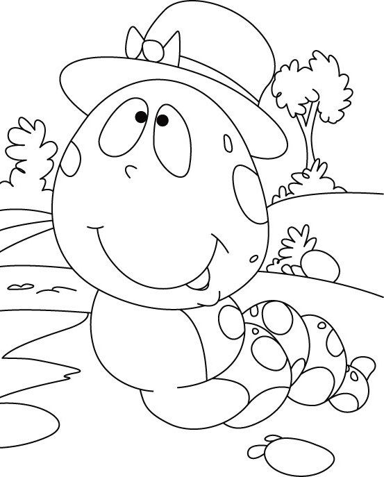 Coloring Pages of Caterpillar