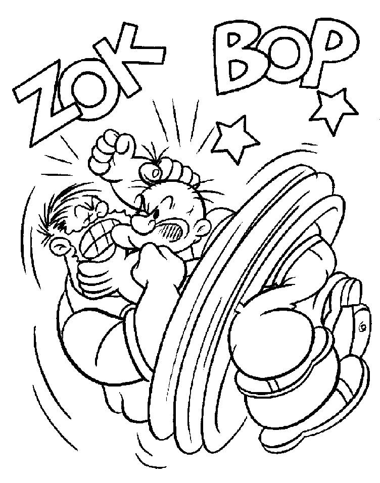 Coloring Pages of Popeye the Sailor Man