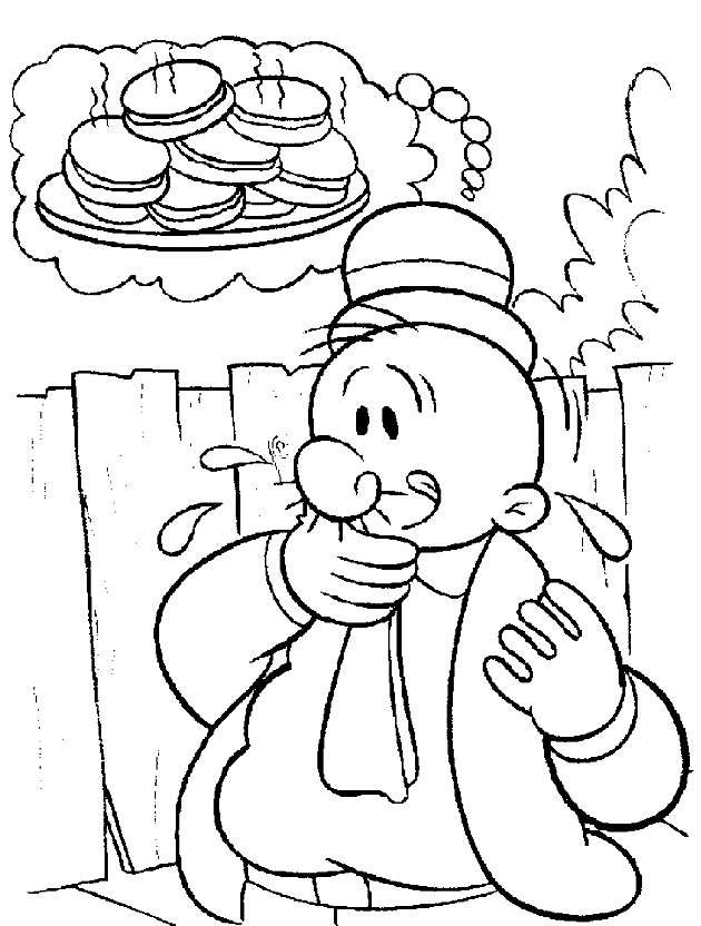 Coloring Pages of Popeye Sailor Man