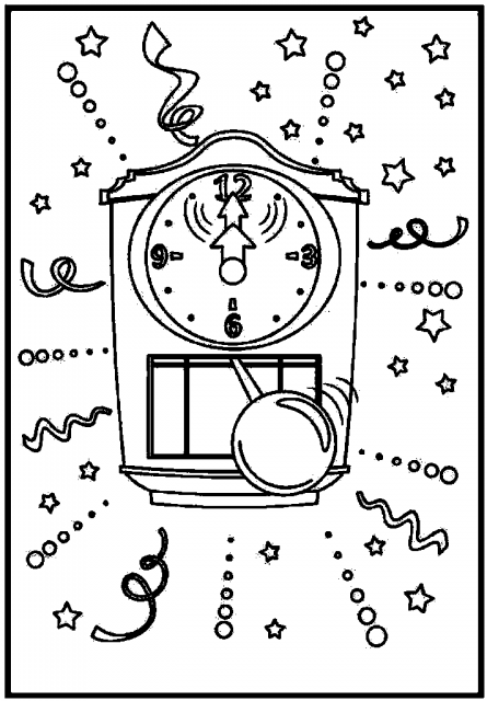 Cuckoo Clock Coloring Pages to Print