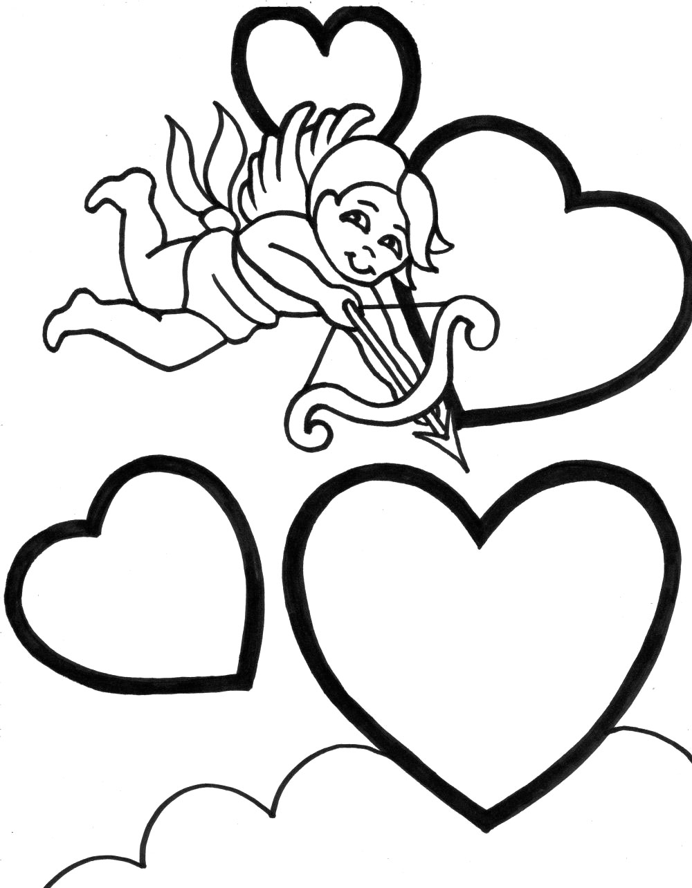 cupid coloring pages free - photo#20